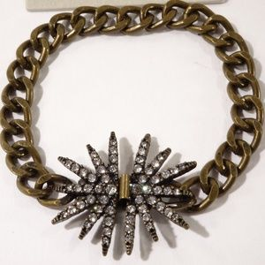 Banana Republic Brass Burst Link Bracelet